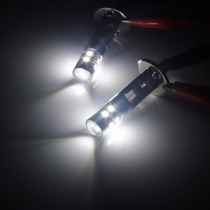 Image 5 - ANGRONG 2pcs H1 Xenon White 10 SMD LED DRL Driving Fog Beam Headlight Bulb Lamp(CA304)