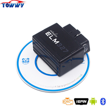 2017 New Black ELM327 OBDII V2.1 With Bluetooth Car Interface Diagnostic-Tool Works on Android&PC