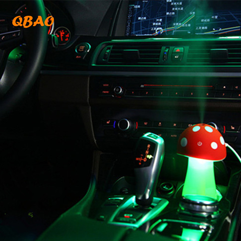 Air Diffuser LED Car Essential Oil Diffuser Mushroom 5V USB Mist Purifier Atomizer Air Diffuser Increase humidity For Car 5v led lighting usb mini air humidifier 250ml bottle included air diffuser purifier atomizer for desktop car