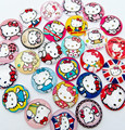 30pcs KT picture random Round  Hello Kitty Glass Cabochon 20mm Flatback for Necklace Pendant/Hair Bow DIY accessory Center