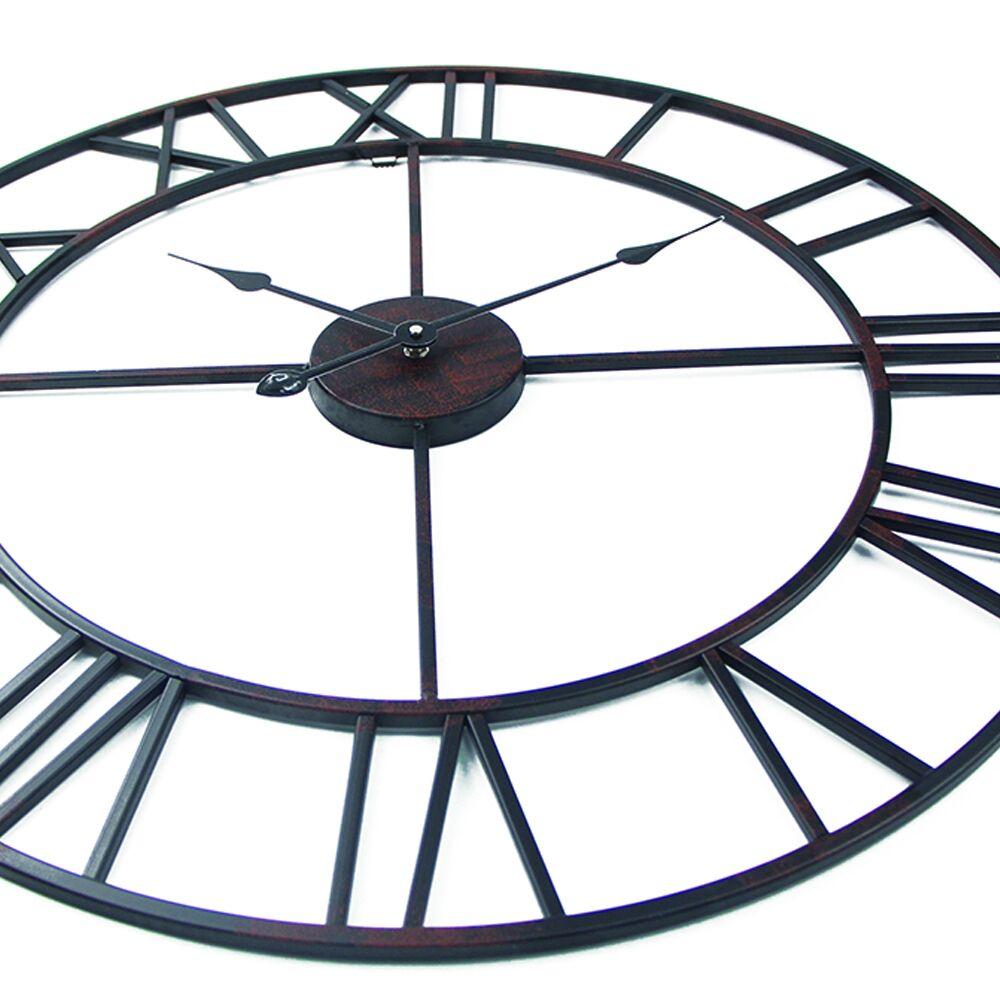 Vintage 80cm 50cm große Wanduhr Schmiedeeisen Uhr Uhr Saat Classic - Wohnkultur - Foto 2
