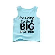 going to be brother tank o-neck boys tank gown aqua blue sleeveless shirt