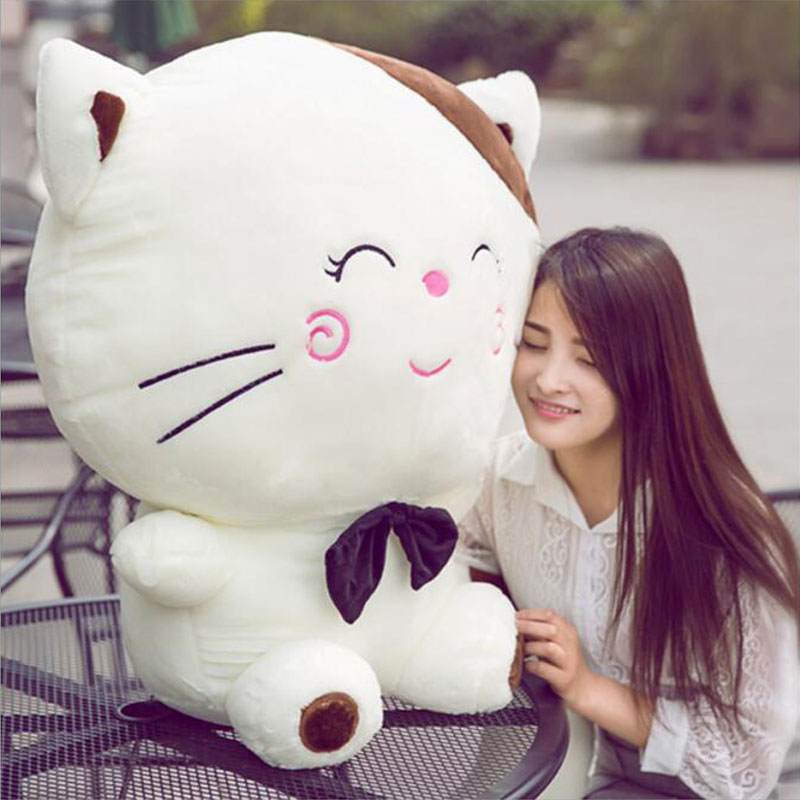 Cute 160cm Include Tail Cute Large Size Cat Plush Stuffed Toys Pillow Birthday Gift Cushion Fortune Cat Doll Pusheen Plush Toys cute 160cm include tail cute large size cat plush stuffed toys pillow birthday gift cushion fortune cat doll pusheen plush toys