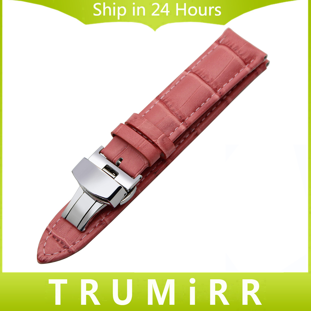 Calf Genuine Leather Watchband for Maurice Lacroix Titoni Watch Band Butterfly Clasp Wrist Strap 14 16