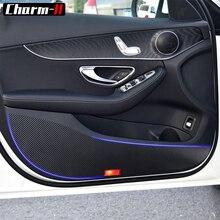 5D Carbon Fiber Vinyl for Mercedes Benz 2017 C Class C200 C180 C300 Door Anti kick pad sticker Door Protection Side Edge Film