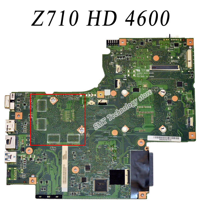 For Lenovo IdeaPad G710 Z710 Motherboard DUMBO2 REV2 1 Mainboard HD 4600 intergated 100 Work