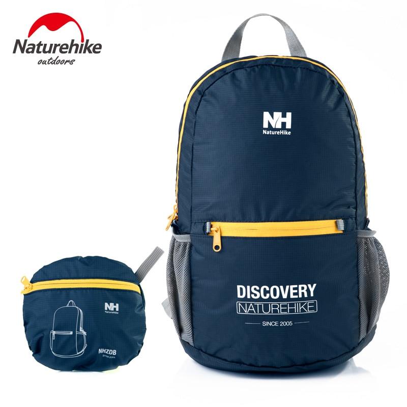 NatureHike Outdoor Laptop Backpack Letter Printed Portable Waterproof Climbing Ultralight Backpacks 15L NH15A001-B рюкзак для туризма nature hike nh nh15a001 b nh 15l