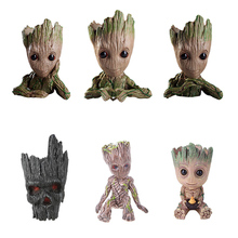 Baby Groot Flowerpot Garden Flower Planter Pot Action Figures Tree Man Cute Model Toy Pen Christmas Decor