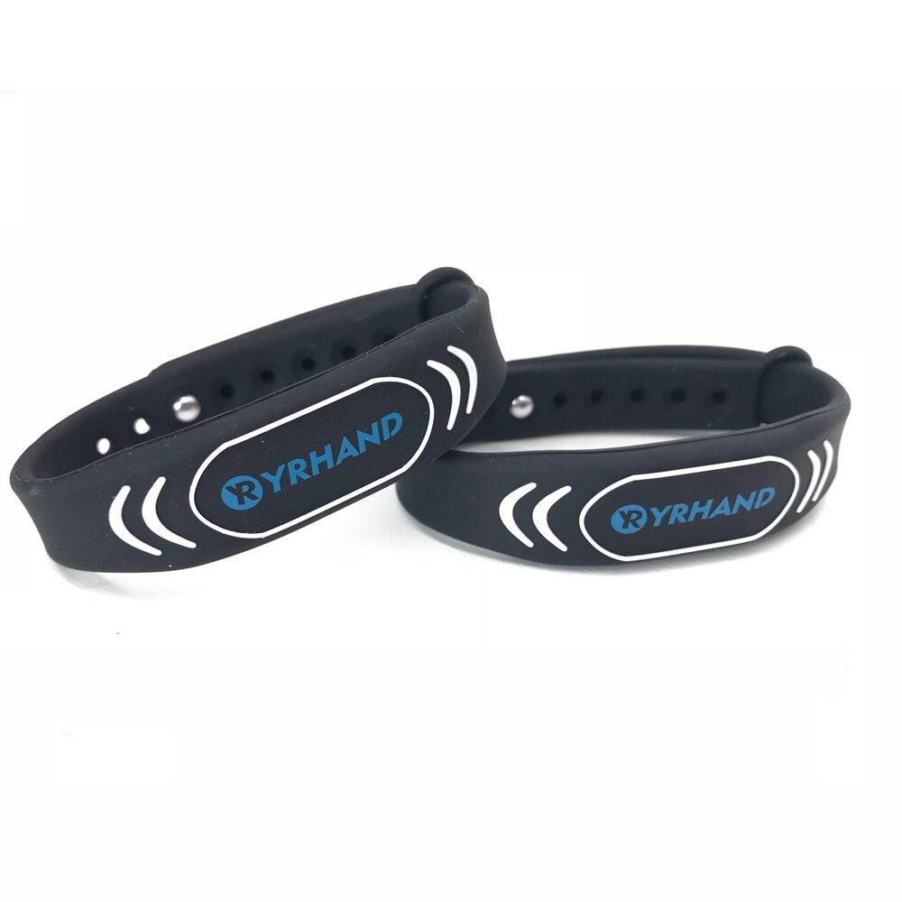 10 Stücke 13,56 Mhz Einstellbar Gummi Ic Smart Armbänder Für Elektronische Rfid Schlösser Gut FüR Energie Und Die Milz