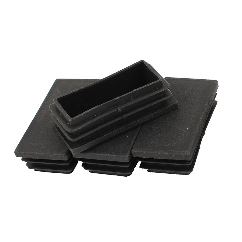Hot Sale 5 Pieces Rectangle Stoppers Tube Blind End Plates 60mm X 30mm Black