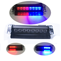 New Car Styling 8 LED Red Blue Car Police Strobe Flash Light Dash Emergency 3 Flashing Fog Lights Free shipping