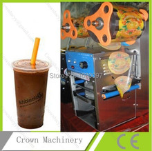 soya milk beverage bubble tea stainless steel cup sealing machine for sale