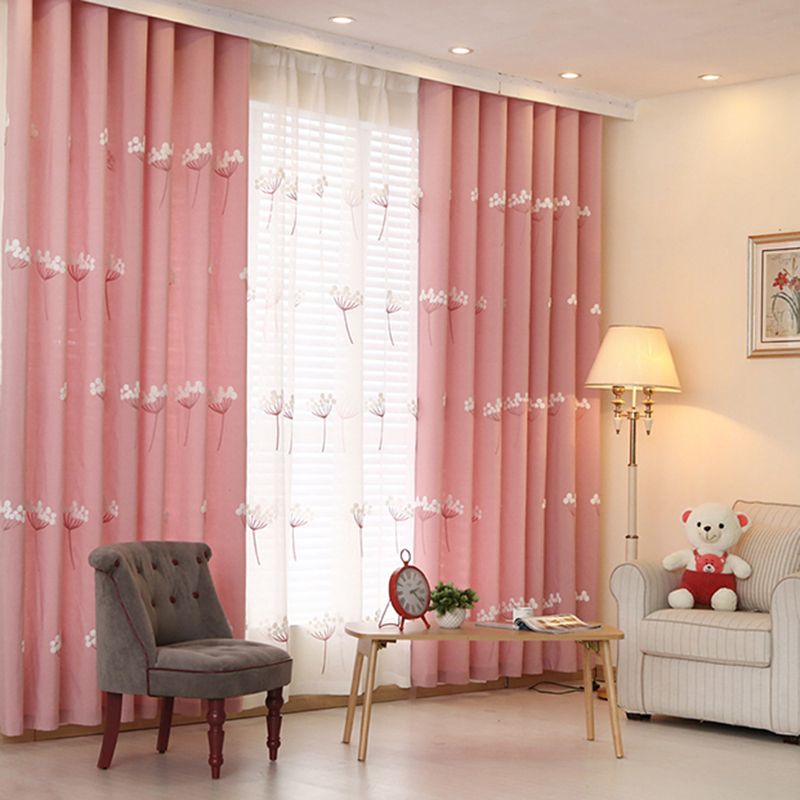 Knitting Wool Embroidered Blackout Curtains For Living Room Bedroom ...