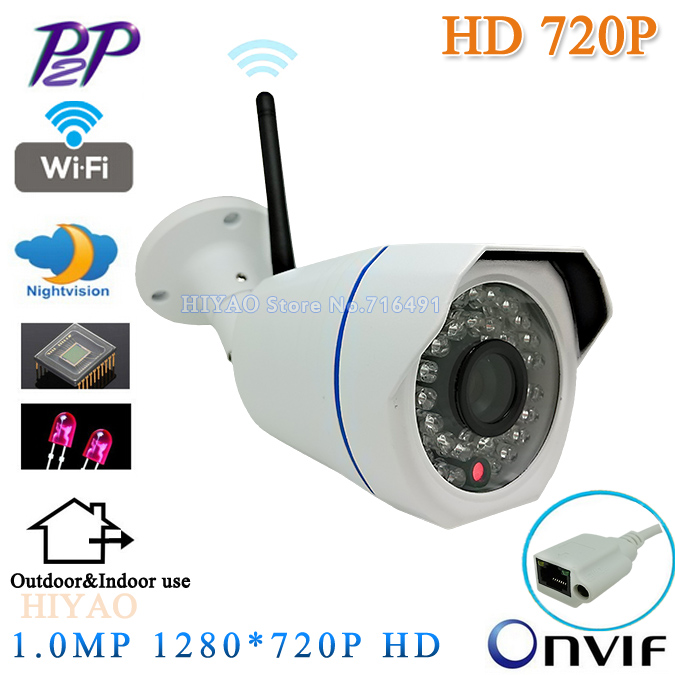 H.264 Video Surveillance Wireless CCTV Camera 720P HD Mini IP Camera WiFi Waterproof Outdoor IR Night Vision Security Camera 720p full hd h 264 waterproof outdoor ir night vision ip camera wifi security cctv system 8ch wireless nvr surveillance kit