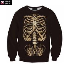 2017 New Halloween skeleton Sweater Men Women Training Exercise Beast Beat Sports Warm Breathable Basketball Running Sweater