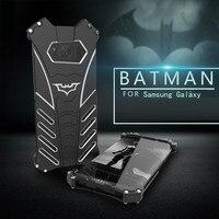 R-Appena Batman Metallo di Lusso Armatura Per Samsung Galaxy S8 S7 S6 bordo più NOTE 5 FE C5 C7 C9 Pro Alluminio Coque Capinhas copertura