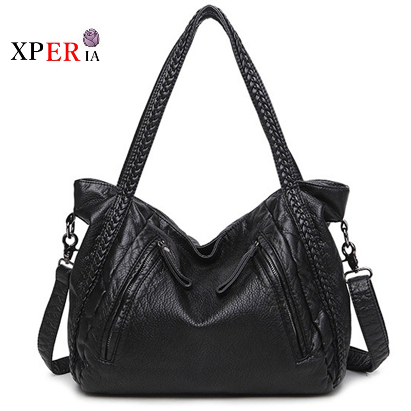 2017 Large Soft Leather Bag Women Handbags Ladies Crossbody Bags For Women Shoulder Bags Female Big Tote Sac A Main Famous Brand unipro 16509u