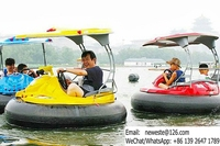The Latest Design Amusement Water Park Equipment Kids Adults Laser Shooting Collision Boat Electric Bumping Bumper Boat