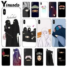 Yinuoda Muslim Islamic Gril Eyes Coque Shell Phone Case for Apple iPhone 8 7 6 6S Plus X XS MAX 5 5S SE XR Mobile Cases babaite muslim islamic gril eyes luxury hybrid phone case for iphone 8 7 6 6s plus x xs max 10 5 5s se xr coque shell