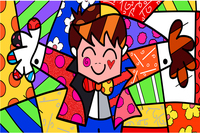 Free Shipping RB Painting Wallpapers Cartoon The Hug Painting Custom Canvas Posters Romero Britto Stickers Home
