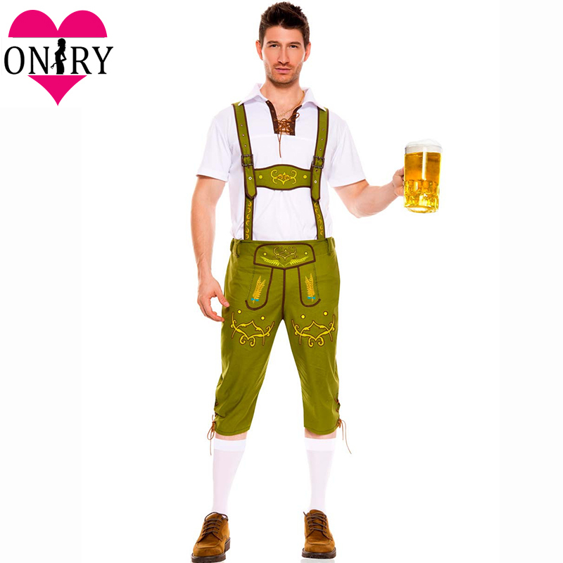 Hot German Bavarian Beer Festival Cosplay Costume <font><b>Men</b></font> <font><b>Sexy</b></font> Costumes For Adults Plus Size Oktoberfest Outfit <font><b>Halloween</b></font> Uniforms image