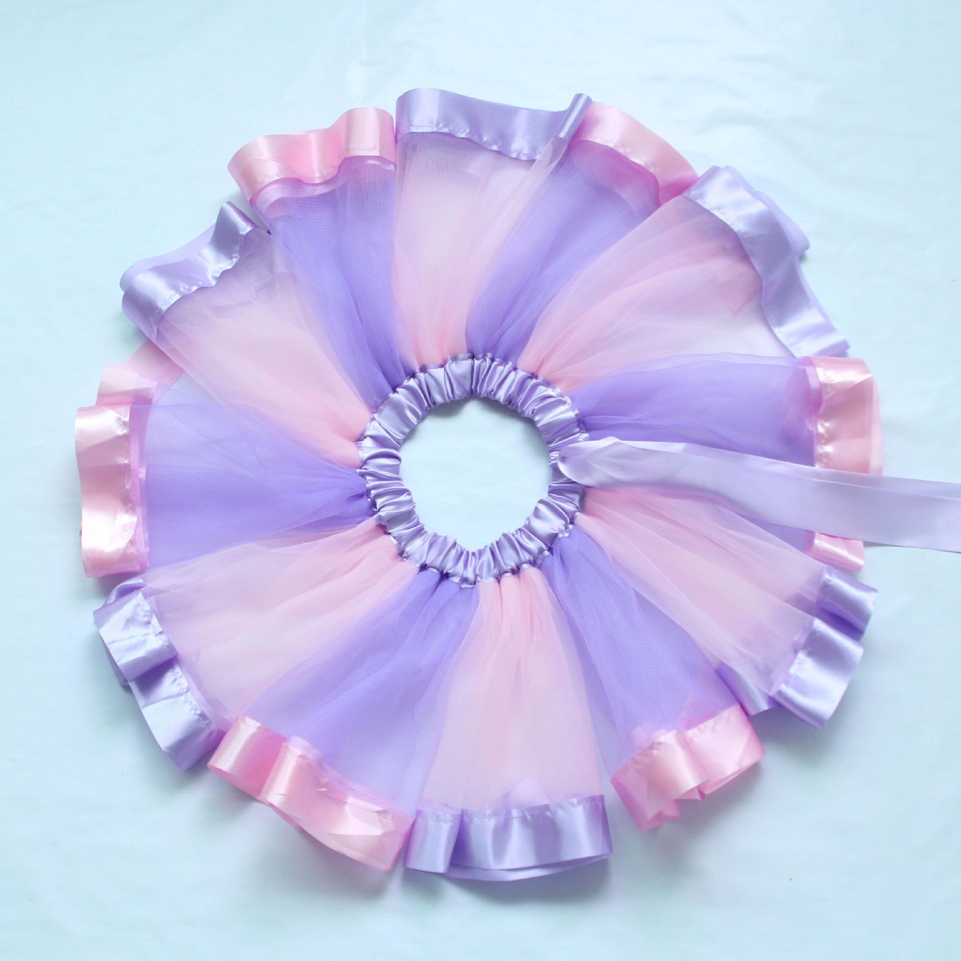 Girls Pettiskirt Baby DIY Tutu Net Yarn Skirts Pink Purple Tulle Puffy Skirts Toddler/infant Short Cake Skirt Children Princess