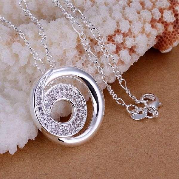 XLP239 Wholesale silver plated Pendant,Factory price 925 stamped fashion jewelry Inlaid stone circle 6 words /axeajola
