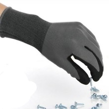 Waterproof Household Gloves Wear-resistant Antiskid Garden Rubber Gloves Durable Emulsion Nitrile Sandy Coated Safety Gloves TY nmsafety 12 pairs mechanics work gloves breathe waterproof nitrile coating nylon safety garden construction gloves
