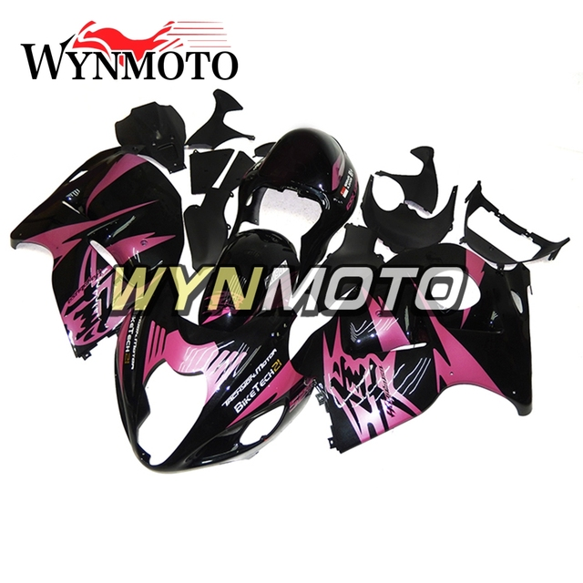 Complete Fairing Kit For Suzuki GSXR1300 Hayabusa Year 97 - 07 Frames ABS Plastic Injection Black Pink Flame Motorcycle Panel