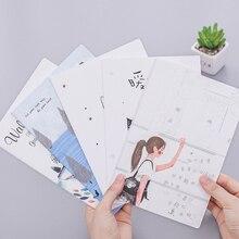 1 книга/лот милый корейский стиль ежедневных заметок 32k A5 блокнот мини карманный планировщик Подпись Гостевая книга подарок для девочек