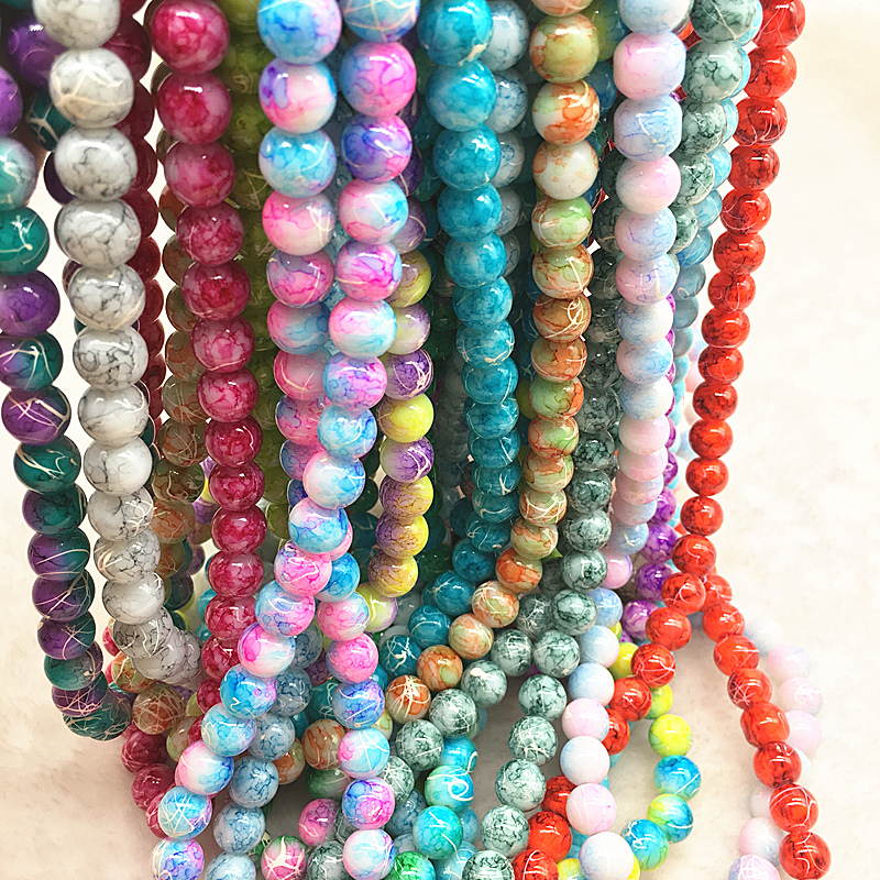 20pcs 10mm Cat/'s Eye Round Ball Glass Loose Spacer Beads DIY Jewelry Findings