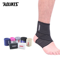 AOLIKES 1PCS Professional Sports Strain Wraps Bandages Elastic Ankle Support Pad Protection Ankle Bandage Guard Gym Protection|Ankle Support|Sports & Entertainment -
