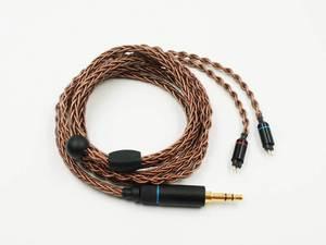 Image 4 - OCC 8 жильный 19 жильный Плетеный MMCX/2pin 0,78 мм Hi Fi аудиофил IEM наушники вкладыши кабель для обновления наушников