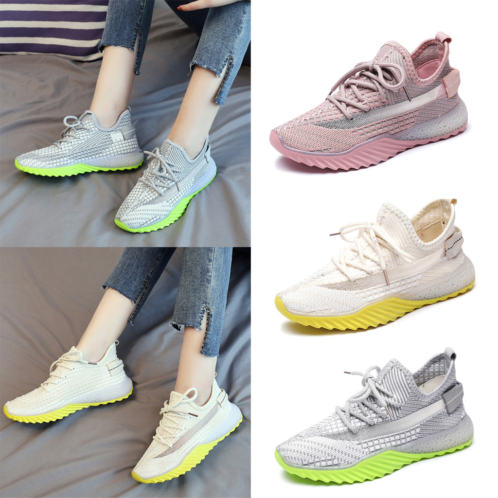 Women's Leisure Outdoors Casual Shoes Breathable Women's Mesh Sneaker Students Casual Shoes Maternity Flat Shoes@20(China)