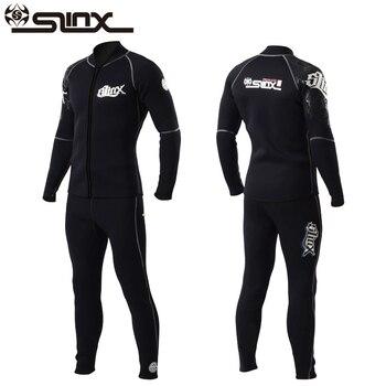 Slinx 3 мм Для мужчин Для женщин Флокирование костюм для дайвинга из неопрена зимних Подкладка из флиса для подводного плавания для дайвинга, п... >> Kale May Store