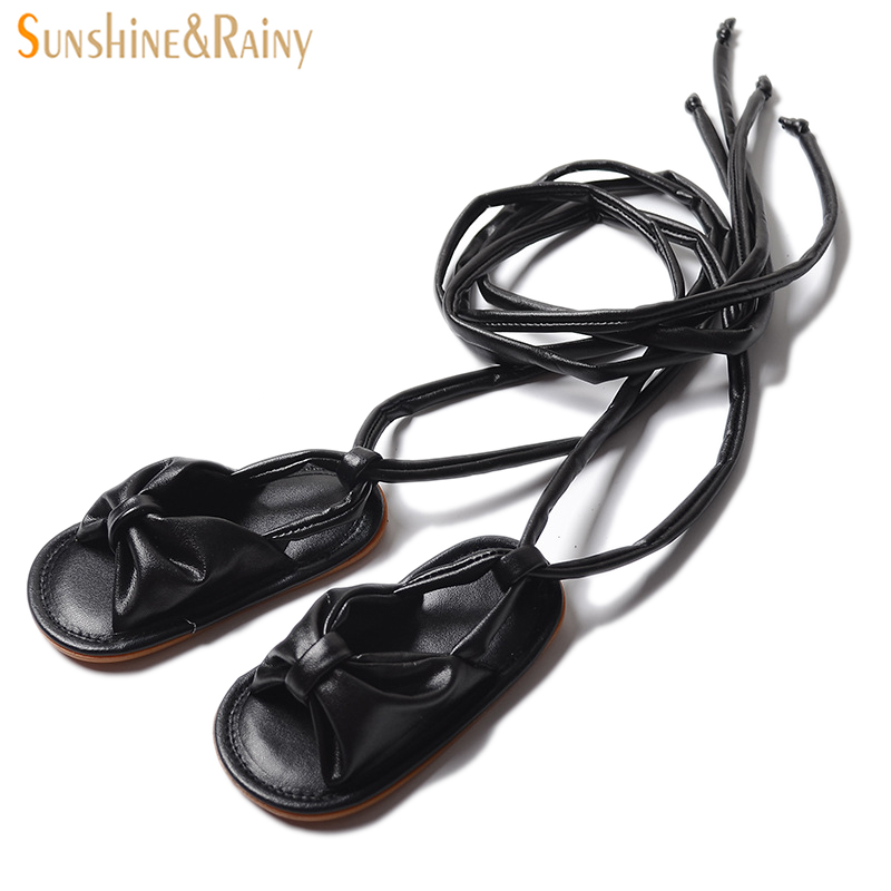 bd9f8b0f4fdb Sunshine   Rainy Ins Baby Girls Lace-up Gladiator Sandals Non-slip  Orthopedic Footwear Princess Shoes For Toddler Summer Walker