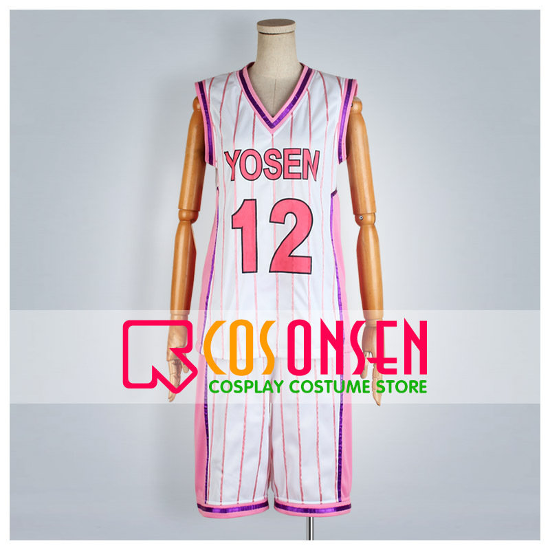 Considerate Cosplayonsen Kuroko's Basketball Yosen High Tatsuya Himuro Cosplay Costume Pink White Jersey Set Convenience Goods