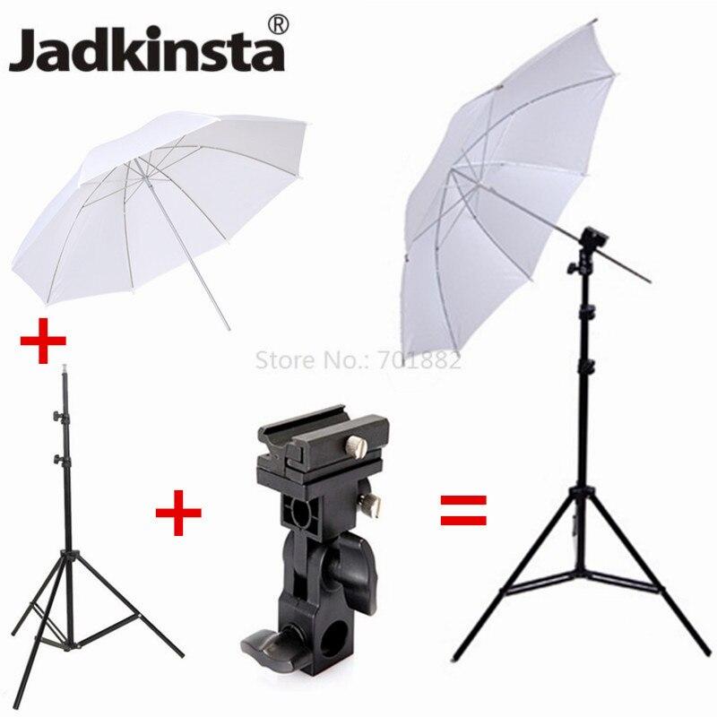 3in1 Lighting Photography Kit Extend Studio Light Stand 2M Tripod 33 Softbox Umbrella Flash Shoe Bracket