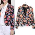 New Autumn Women Blazer Long Sleeve Fashion Floral Printed Casual Suit Jackets Elegant Ladies Slim Blazer Outerwear Coats
