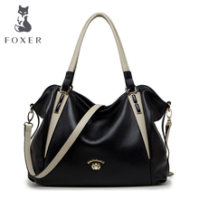 FOXER Brand Women Genuine Leather Should Bag & Handbag Female Luxury bags Women's Fashion Handbags  Tote for Women