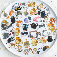 40pcs Cute Clever Magic Meow Cat Animal Stickers Decorative Stationery Craft Stickers Scrapbooking DIY Stick Label(China)