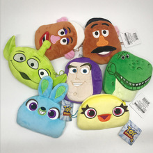 9 style New coin purse Toy Story 4 Buzz Lightyear Woody Ducky&Bunny Slinky Dog Toys Anime Figure plush small bag buckle doll свитер ducky style