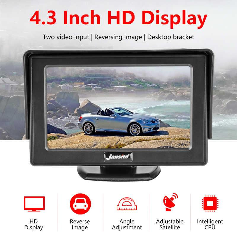 """سيارة رصد 4.3 """"شاشة ل كاميرا الرؤية الخلفية عكس TFT شاشة الكريستال السائل HD الرقمية اللون PAL/NTSC عكس كاميرا نظام صف سيارات"""