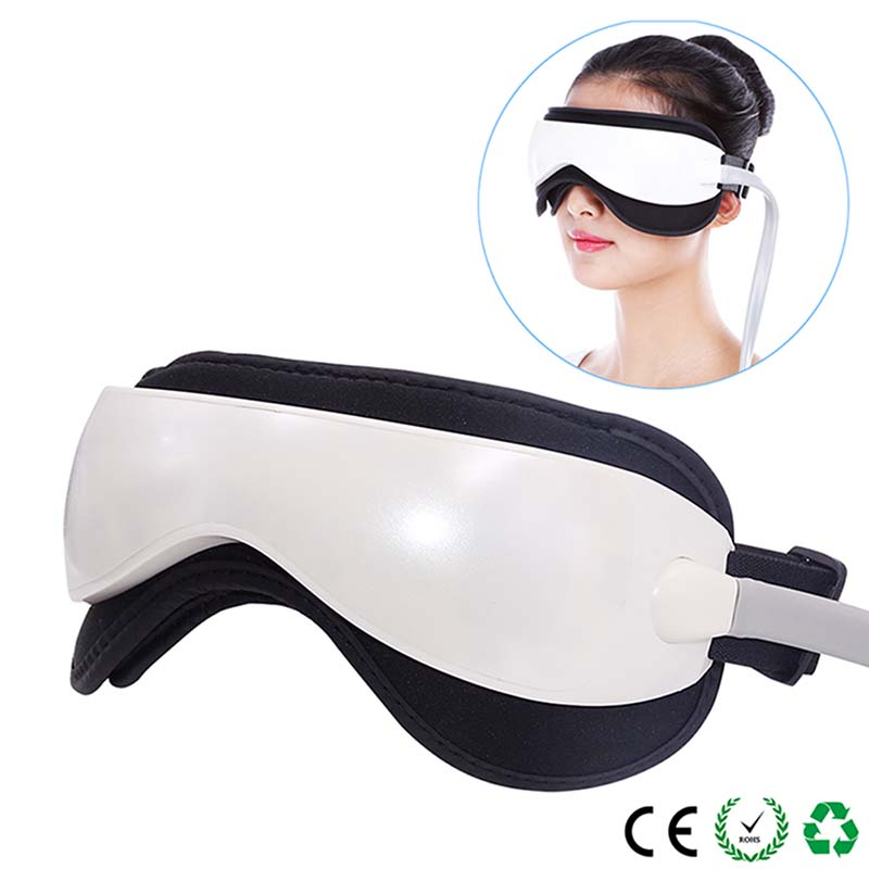 Anti-aging DC Vibration Electric Eye Massager Heat Compression Air Pressure Rest Music Eye Massager Relaxation Eye Care Machine цена
