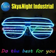 Free shipping Ice blue el glasses El Wire Fashion Neon LED Light