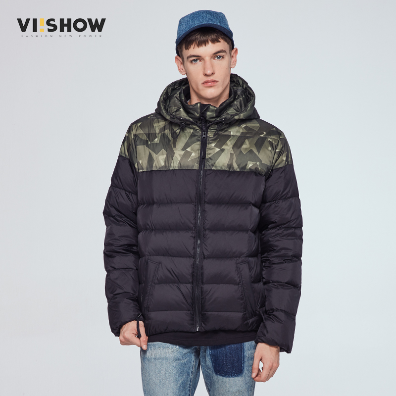 VIISHOW mens jacket men's hooded wadded coat winter thickening outerwear male slim casual cotton-padded outwear hot sale new winter mens jacket and coats fashion men cotton coat hoodies wadded military thickening casual outwear h4573
