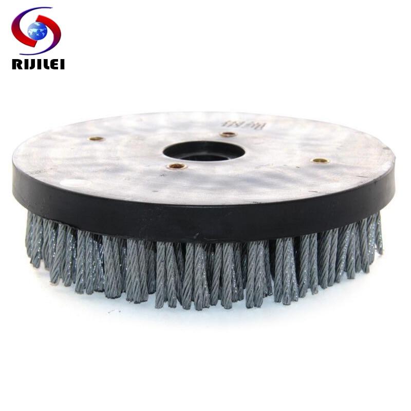 RIJILEI 8inch Steel Round Antique Abrasive Brush Polishing Wheel Cleaning Brushes for Granite YG09B