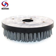RIJILEI 8inch Steel Round Antique Abrasive Brush Polishing Wheel Cleaning Brushes for Granite YG09B