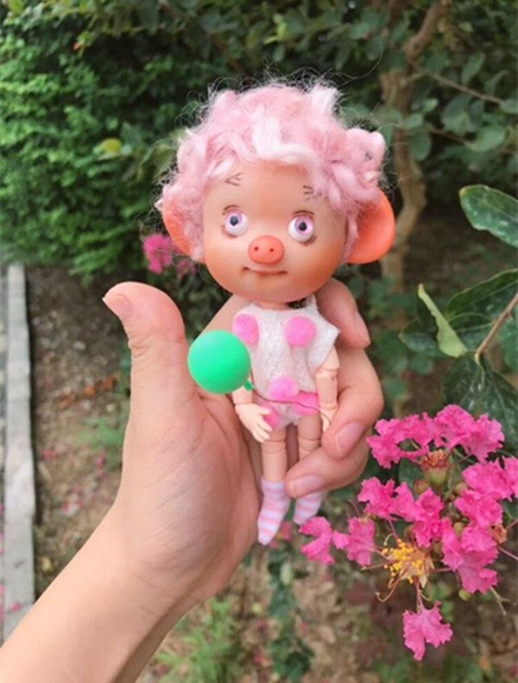 BJD mini cerdo regalo hecho a mano juguete multi-articulación cuerpo - Muñecas y accesorios - foto 2