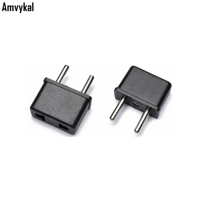 Amvykal Universal Europe AC Power Electrical Plug US To EU Plug Adapter Travel Charger Converter Socket 1000 Pcs/lot